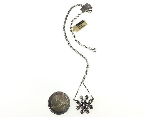 Konplott Magic Fireball crystal satin Halskette mit Anhänger kristall, grau 5450527778336