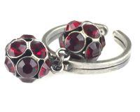 Vorschau: Konplott Disco Balls Ring in siam rot mit 2 Kugeln 5450527597326