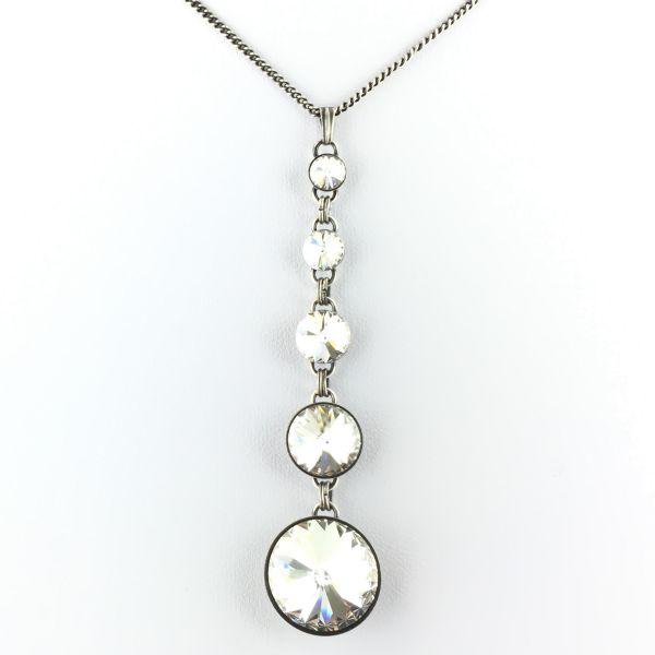 Rivoli crystal weiße Halskette in Y-Form