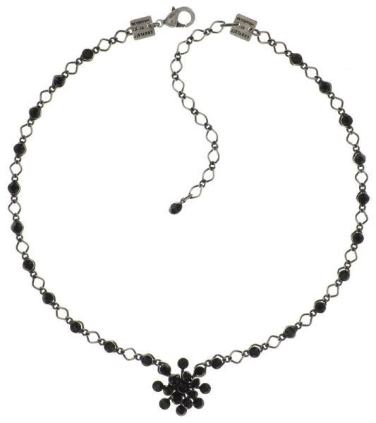Konplott Magic Fireball Halskette steinbesetzt mit Anhänger in jet, schwarz 5450527612166