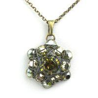 Vorschau: Konplott Bended Lights Halskette mit Anhänger in Olivgrün 5450527758994