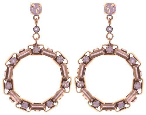 Konplott Industrial Ohrringe hängend in opal rosé 5450543853956