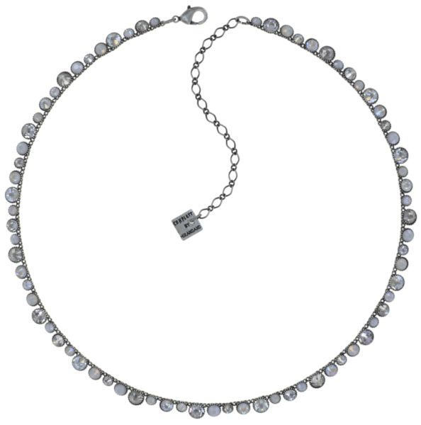 Konplott Water Cascade Halskette in Vanilla Sorbet weiß/grau 5450543907000