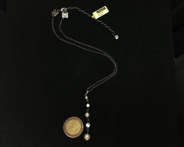 Konplott Pearl Shadow crystal Halskette in Y-Form 5450527598910