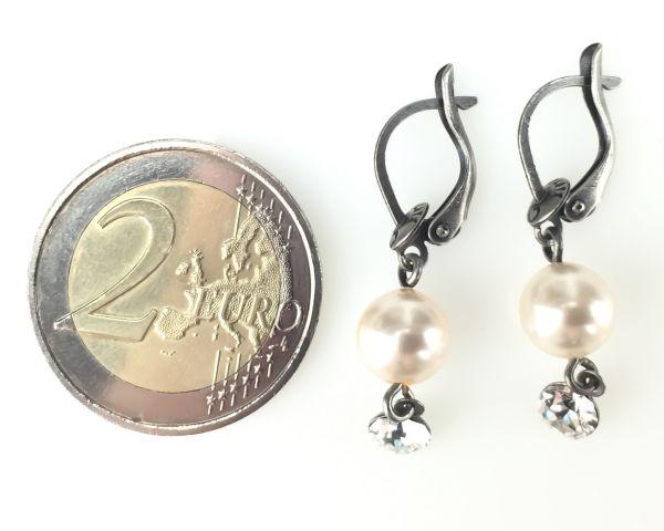 Konplott Pearl Shadow crystal Ohrhänger mit längl. Verschluss 5450527444538