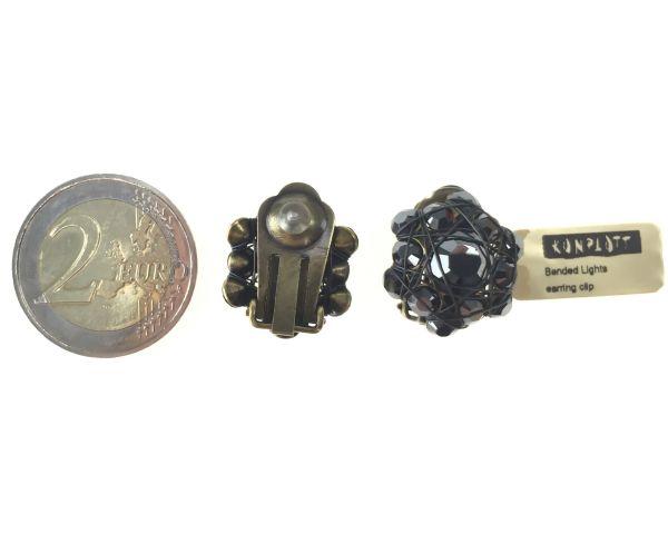 Konplott Bended Lights Ohrclip in Schwarz 5450527759151