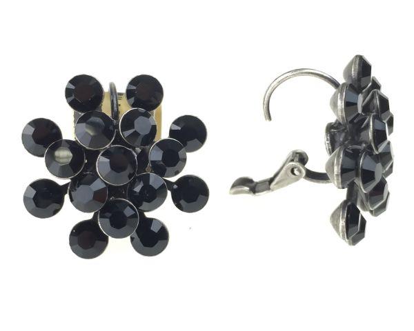 Konplott Magic Fireball Ohrhänger mit Klappverschluss in jet, schwarz 5450527612197