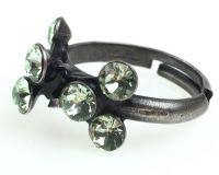 Vorschau: Konplott Magic Fireball 8 Stein Ring in chrysolite, hellgrün 5450527612135