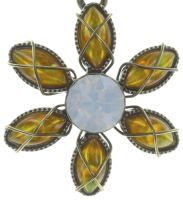 Vorschau: Konplott Psychodahlia Halskette mit Anhänger in gelb Messing 5450543730479