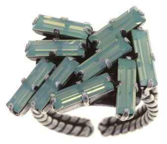 Konplott Jumping Baguette Ring Opal Green 5450543861746