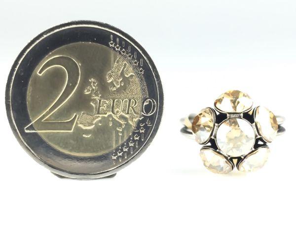 Konplott Disco Balls crystal golden shadow Ring mit 1 Kugel 5450527640749
