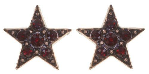 Konplott Dancing Star Ohrstecker in rot Größe XS 5450543774640