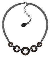 Vorschau: Konplott Rock 'n' Glam Halskette in black gun metal 5450543777795