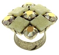 Konplott Cleo Ring Gold And Sand in braun 5450543911861