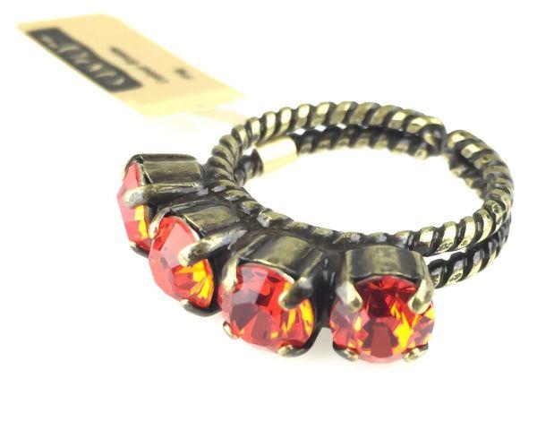 Konplott Colour Snake Ring in Hyacinth, orange/rot 5450527141420