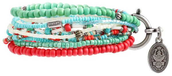 """Petit Glamour d´ Afrique"" multi Armband elastisch"