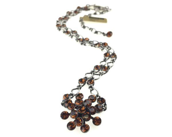 Konplott Magic Fireball Halskette steinbesetzt mit Anhänger in smoked topaz, braun 5450527640114