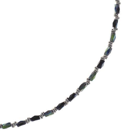 Konplott Night Sun Halskette mit Perlenausschnitt in schwarz 5450543786575