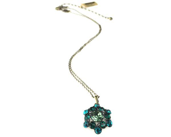 Konplott Bended Lights Halskette mit Anhänger in Blau/ Grün 5450527758864