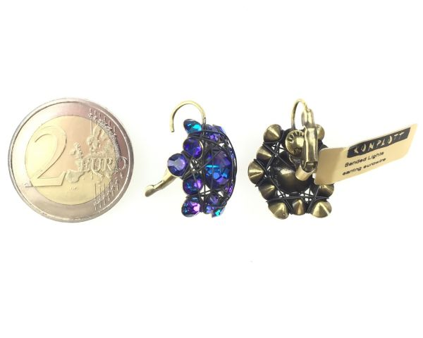 Konplott Bended Lights Ohrhänger mit Klappverschluss in Violett 5450527759403