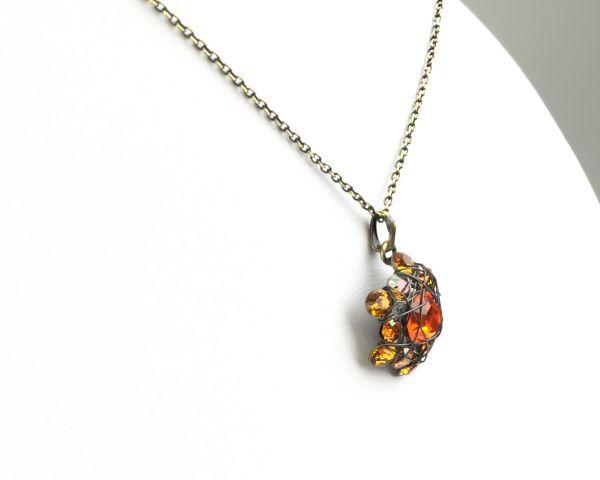 Konplott Bended Lights Halskette mit Anhänger in Orange/ Gelb 5450527758932