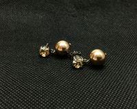 Vorschau: Konplott Pearl Shadow crystal golden shadow Ohrstecker hängend 5450527598798