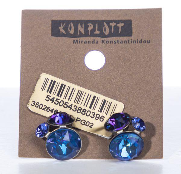 Konplott Disco Star Ohrstecker Blue Bayou 5450543880396