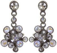 Konplott Alien Caviar Ohrring Crystal Clear in weiß *Neu: Fassung aus Titan 5450543895536