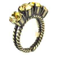 Konplott Colour Snake Ring in Light Topaz, gelb 5450527610056