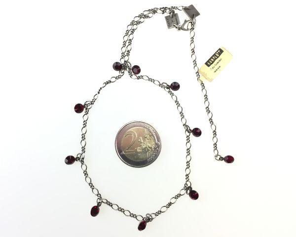 Konplott Tutui siam Halskette steinbesetzt, dunkelrot 5450527591546