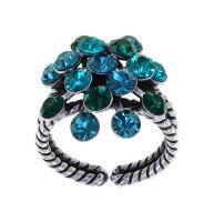 Konplott Magic Fireball Ring Emerald Blue in Classic Size 5450543936314