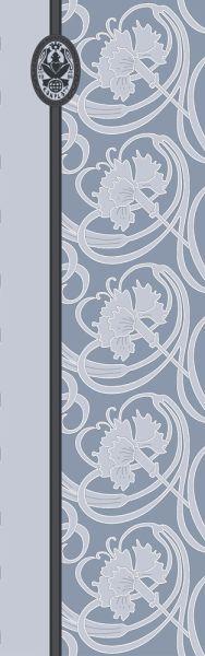 Konplott Schal Floral 5 Blau + Dunkeles Muster 5450543806860