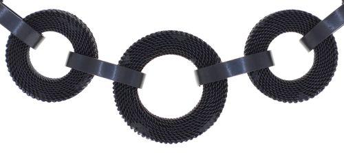 Konplott Rock 'n' Glam Halskette in black gun metal 5450543777795