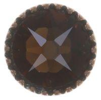 Vorschau: Konplott Black Jack Ohrstecker klassisch klein in braun/orange smoked topaz 5450543750453
