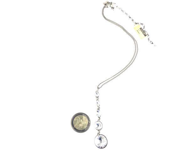 Konplott Rivoli crystal weiße Halskette in Y-Form 5450527558167