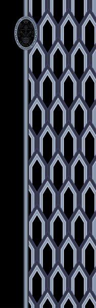 Konplott Schal Geometrisch 8 in schwarz/blau 5450543806914