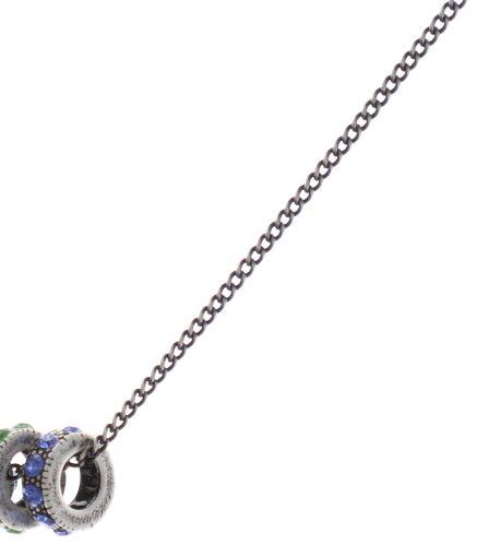 Konplott Colour Ring Halskette lang in sapphire blau/grün 5450543734286