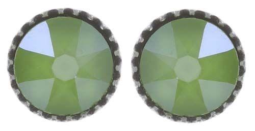 Konplott Black Jack Ohrstecker klassisch klein in grün crystal lime 5450543723884
