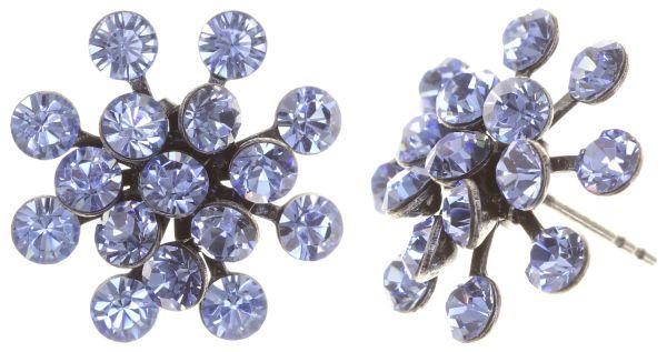 Konplott Magic Fireball Ohrstecker in light sapphire, hellblau 5450527612067
