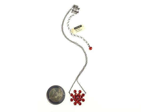 Konplott Magic Fireball Halskette mit Anhänger in hyacinth, rot/orange 5450527640367