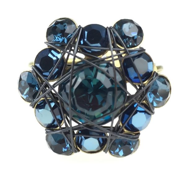 Konplott Bended Lights Ring in Blau 5450527759922
