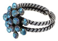 Konplott Magic Fireball Ring in blue black diamond shimmer mini 5450543914794