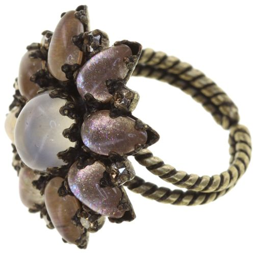 Konplott Mary Queen of Scots Ring Champagne weiß/beige 5450543891170
