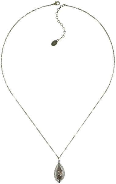 Konplott Amazonia lange Halskette mit Anhänger in beige, Größe M 5450543753485