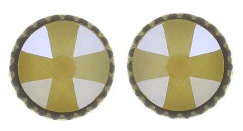 Konplott Black Jack Ohrstecker klassisch klein in gelb crystal buttercup 5450543730813