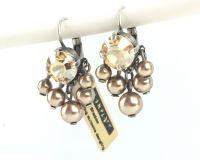 Vorschau: Konplott Pearl Shadow crystal golden shadow 5 Perlen Ohrhänger mit Klappverschluss 5450527598774