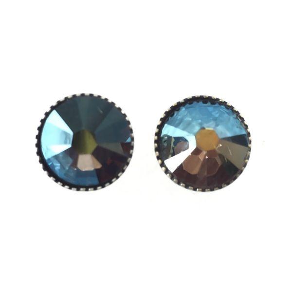 Konplott Black Jack Ohrstecker groß in crystal iridescent grün 5450543206073