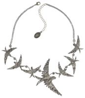 Vorschau: Konplott The Sparrow Halskette Größe L,M in silber - Widerrufsware wie neu 5450543749648