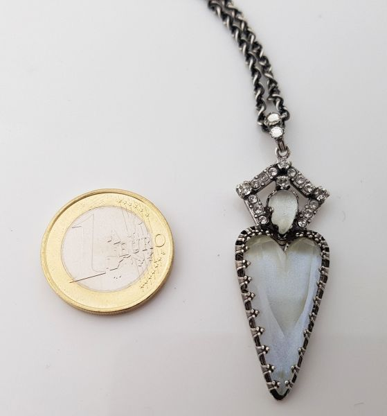 Konplott Snow White Halskette mit Anhänger in in weiß Größe M 5450543755823