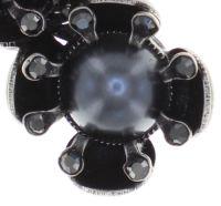 Vorschau: Konplott Petit Fleur de Bloom Halskette mit Anhänger in schwarz carbon bloom 5450543798981